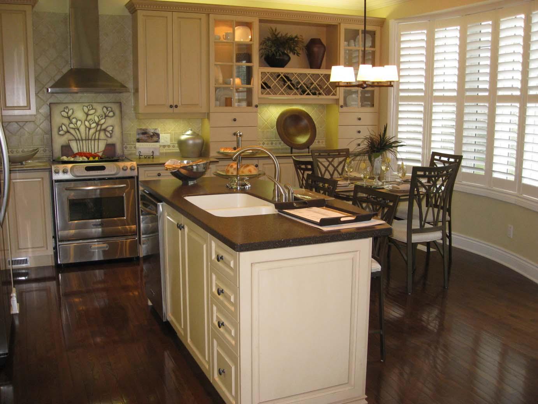 White Kitchen Cabinets with Dark Floors 1382 x 1037
